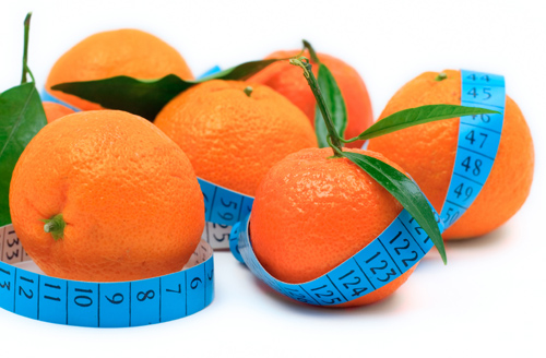 Oranges with tape measure